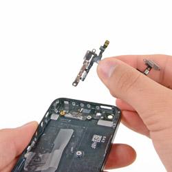 Замена шлейфа кнопки включения и громкости айфон 5